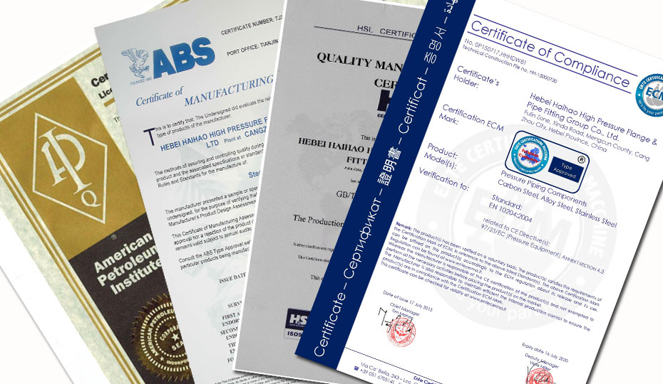 API CE ISO PED ABS Certified