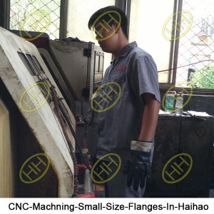 CNC-Machning-Small-Size-Flanges-In-Haihao