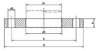 DIN-2502-PN16-PN25-Flat-Flange-for-Welding-Plate-Slip-On