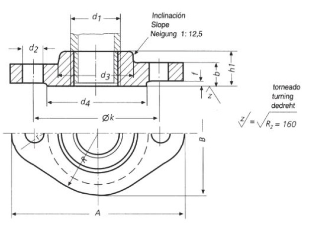 DIN-2561-PN10-PN16-Oval-Plain-Threaded-Flanges-Dimensions
