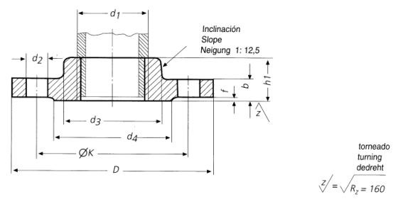 DIN-2567-PN25-PN40-BSPT-Threaded-Flanges-with-Neck-Dimensions