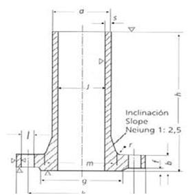 DIN-28115-PN10-Long-Neck-Welding-Flanges-Dimensions