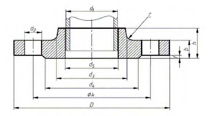 DIN-86029-PN10-Hubbed-Slip-On-Flanges-for-Welding-Dimensions