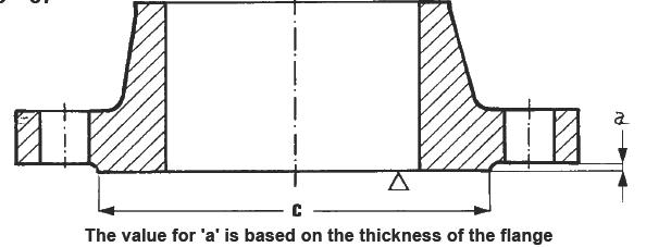 DIN2526-Form-C-UNI2229-67-Raised-Face-Dimensions