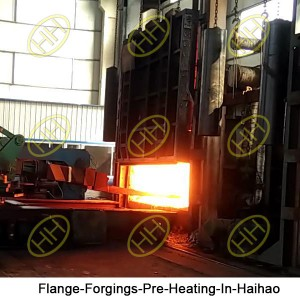 Flange-Forgings-Pre-Heating-In-Haihao