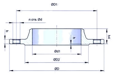 GOST-12821-80-welding-neck-flange-dimensions-PN16-1.6mpa