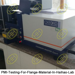 PMI-Testing-For-Flange-Material-In-Haihao-Lab