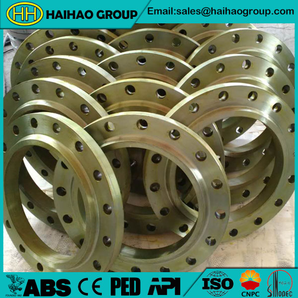 SO-RF-BS4504-PN16-A105-Yellow-Paint-Slip-On-Flanges