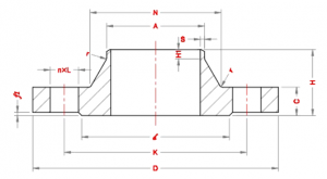 Weld-neck-Flanges-Dimensions-according-to-Standard-EN-1092-1-PN6