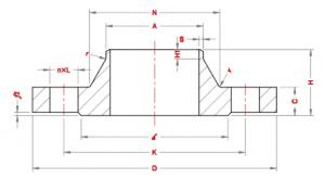 Weld-neck-Flanges-Dimensions-according-to-Standard-EN-1092-1-PN63