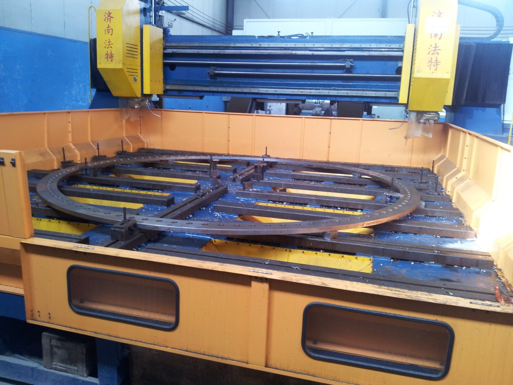 Drilling-Of-Rolled-Forged-Ring-Flange-In-Haihao-Workshop