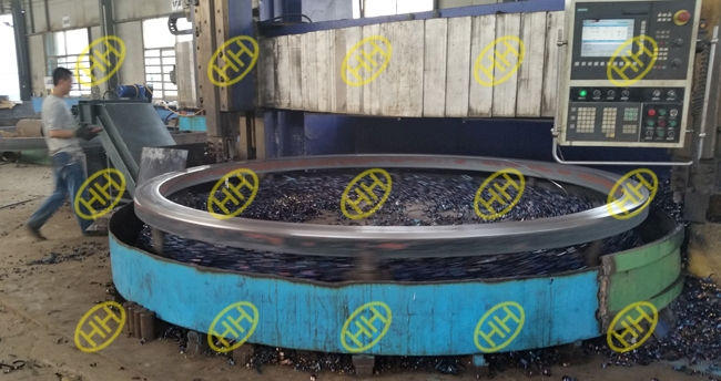 cnc-machining-of-rolled-forged-ring-flanges-in-haihao-workshop